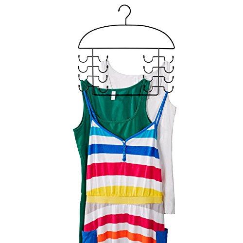TRI Hemdchen-Bügel, Kleiderhaken mit integrierten Hängeplätzen für Tops, Unterwäsche, Bademode oder Trägershirts