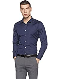 Amazon Brand - Symbol Men's Checkered Slim Fit Formal Shirt