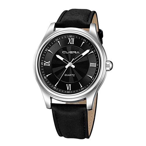 Lazzgirl Luxusuhren Quarzuhr Edelstahl Zifferblatt Casual Bracele Uhr(D,One Size)