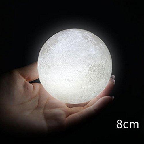 somesun Hand Ziehen verblassen Licht Mond Schlummerlicht USB Haus Büro Weihnachten Décor Outdoor-Spielen Beleuchtung Schlummerlicht Licht-Nacht Kreative Geschenk für Kinder, weiß, 8 cm, LED (Baseball Schwellen)