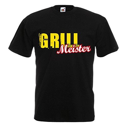 Cooles Grill BBQ T-Shirt - lustige Fun Sprüche - Party Kochen Smoker Geschenk 026 Grillmeister 5XL