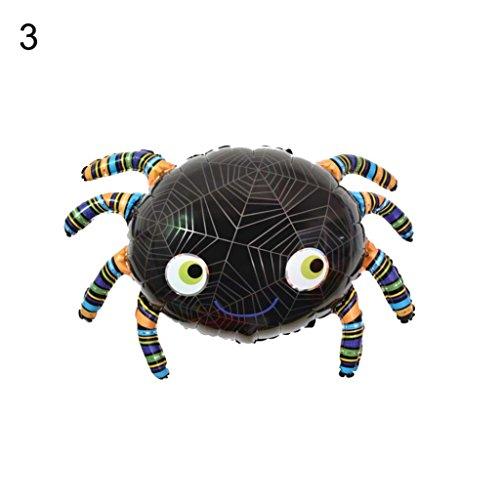 HearsBeauty Halloween-Folienballon, Motive: Fledermaus, Totenkopf, Kürbis, Spinne, für Festivals, Bars, Zuhause, Partys 3#