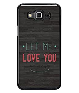 Fuson Designer Back Case Cover for Samsung Galaxy Grand Max G720 (Love You Quotations Words Wordings )