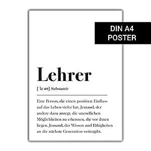 Lehrer Definition DIN A4 Plakat: Geschenk Poster