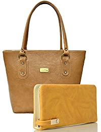 EDGEKART Premium PU Leather Women's And Girl's Handbag And Wallet Clutch Combo_ET04