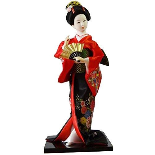 Black Temptation Traditionelle japanische schöne Kimono-Geisha /Maiko Puppe /Geschenke / Deko-A10