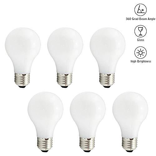 Svater Bombillas LED E27 A60 Casquillo Globo Edison Bombilla de ópalo Blanco Frío 2700K 850 Lúmenes Filamentos 8W Equivalente a 80W 360 Grados No Regulable Pack de 6