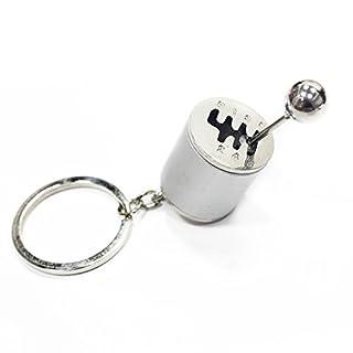 Creative Auto Teil Modell sechsgang-Schaltgetriebe Schalthebel Schlüsselanhänger Schlüsselanhänger Ring Schlüsselanhänger Schlüsselanhänger (Silber)