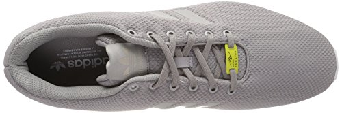 Chaussures De Course Adidas Zx Flux, Unisexe - Argent Pour Adulte (aluminium / Aluminium / Blanc)