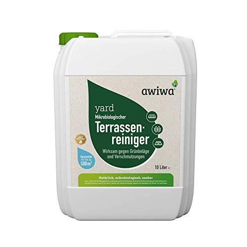 awiwa Terrassenreiniger, Moosentferner & Grünbelagentferner - ohne Chemie - 10 Liter Konzentrat