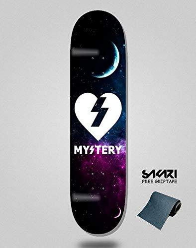 lordofbrands Monopatín Skate Skateboard Deck Mystery Cosmic Heart 8.0