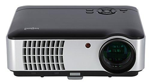 ivolum LED-Beamer HBP-3000 | Heimkino-Beamer unterstützt 1080p mit hoher Lichthelligkeit von 2800 Lumen | Der ideale Einstiegs-Beamer für Gamer & Filmfans | integrierter Mediaplayer |