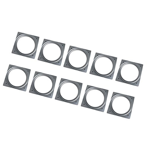 Almencla 10 Unids 155mm Rodamiento De Bolas Completo Placa Giratoria De Metal Lazy Susan Turntable Desk