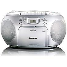 Lenco  SCD-42 SILVER - Reproductor de CD (CD-R/RW, telescopic antenna, FM radio, reproductor de cassette) plata