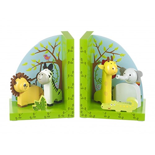 Orange Tree Toys : Wooden Safari Animals Bookends