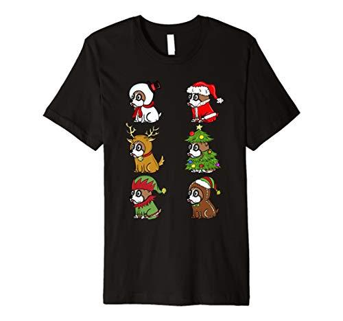 Boxer Süße Kostüme Weihnachten T-Shirt Lustiger Hund Shirt