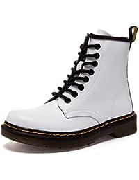 Donna Pelle Moda caviglia Stivali Inverno Classici Martin Stivaletti Uomo  Impermeabile Stringate Boot 725857eefc7