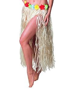 Boland 52401 - Hawaiian Hula falda 80 cm Color Natural, Naturales
