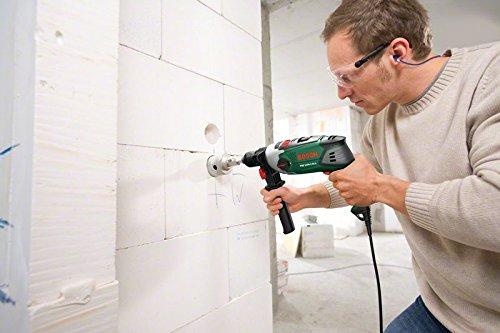 Bosch DIY Schlagbohrmaschine PSB 1000-2 RCE, Zusatzhandgriff, Tiefenanschlag, Koffer (1000 Watt, Max. Bohr-ø 1./2.Gang: Holz: 40/25 mm, Beton: 20/13 mm) - 4