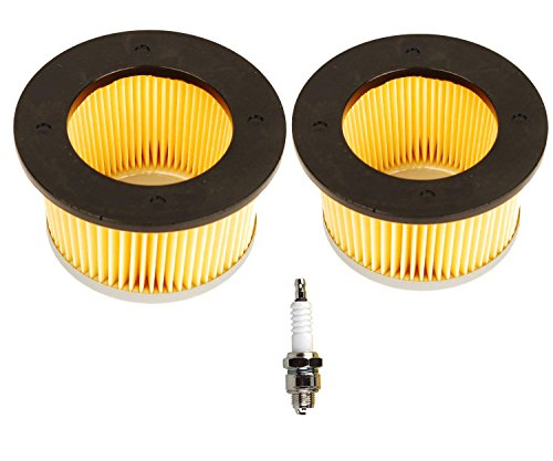 OxoxO Replace Air Filter with Spark Plug for Tecumseh 30727 30604 Fit H22 H25 H30 H35 H40 H50 H60 John Deer AM30900 Cub Cadet 488619 488619-R1 Lesco 050113