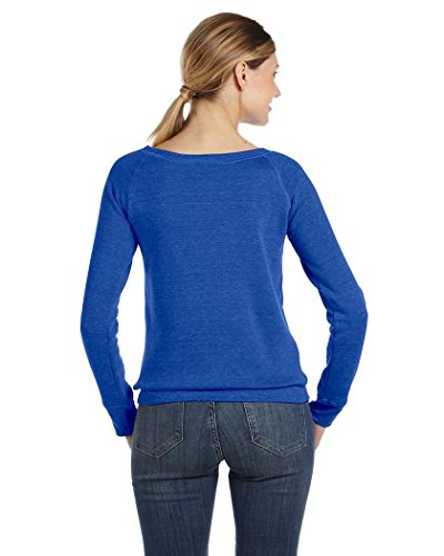 Bella Canvas - Sweat-shirt - Solid - Manches Longues - Opaque - Femme Bleu - True Royal