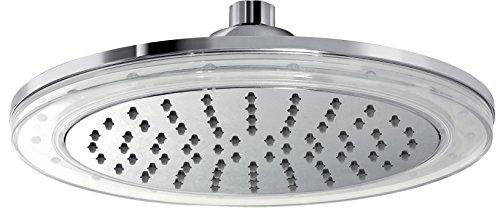 Gedy Light Rociador de Ducha Cromoterapia de 1 Jet, Plástico y ABS, Cromo, 25.00x25.00x8.00 cm
