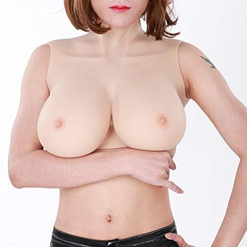 (CYXCUP Silikon-Brustformen (A-F Cup Optional) Soft/Lifelike Künstliche Brust für Crossdresser Transgender Cosplay Mastectomy Breast Enhancer,E)