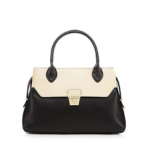 j-by-jasper-conran-womens-black-twist-lock-detailed-tote-bag