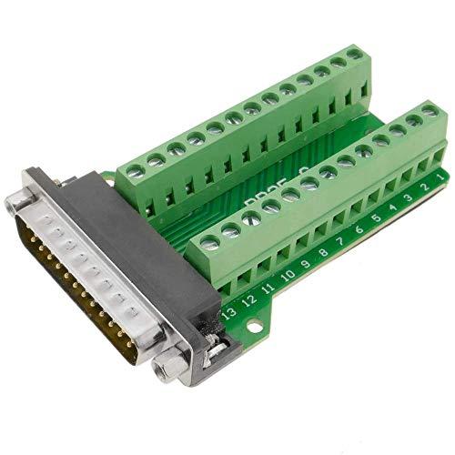 BeMatik - Adapter serielle Verbindung DB25-Stecker an 26-polige Klemmleiste Breakout Board - Db25-stecker