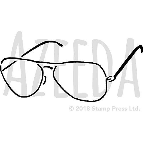 Azeeda Groß A2 'Sonnenbrille' Wandschablone / Vorlage (WS00035409)
