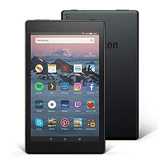 """Tablette Fire HD 8, écran HD 8"""" (20,3 cm), 16 Go (Noir) - avec offres spéciales (8ème Génération - Modèle 2018)"""