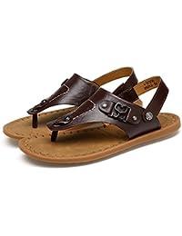 a4fea19d0bdef Scarpe da spiaggia sandalo uomo sandalo estivo Scarpe da pescatore  antiscivolo in morbido cuoio genuino (Colore…