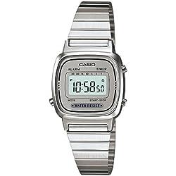 Casio Reloj Digital para Mujer con Correa de Acero Inoxidable – LA670WA-7D
