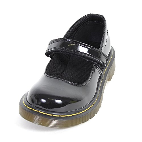Dr.Martens Maccy Black Patent Kids Shoes Size 3 UK