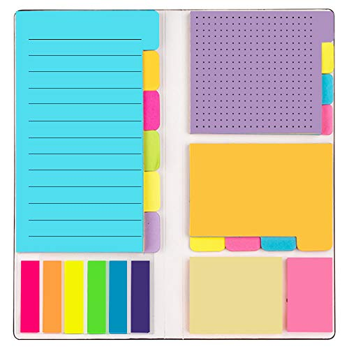 LELADY Selbstklebende Notizzettel Haftnotizen Set, Prioritize Divider Haftnotizen Lesezeichen mit Farbcodierung, 8.07 inch * 4 inch