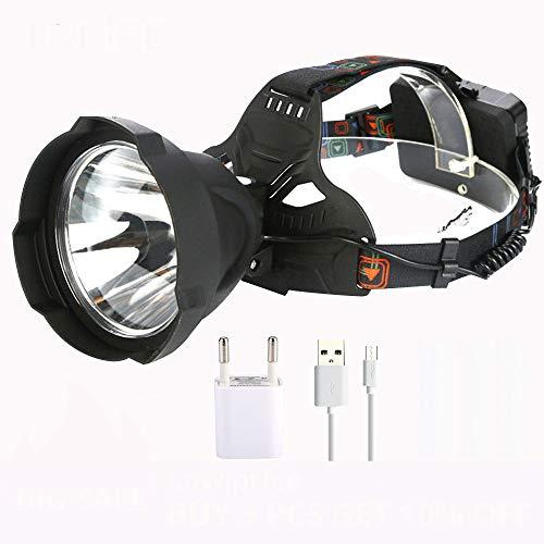 whbage LED Kopflampe 35000 Lumen Scheinwerfer USB wiederaufladbare t6 led Scheinwerfer Scheinwerfer leistungsfähigste wasserdichte außenbeleuchtung Scheinwerfer