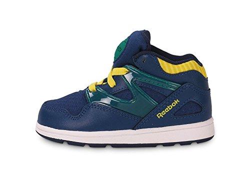 Reebok CLASSIC VERSA PUMP OMNI LITE Scarpe Sneakers Moda Blu Giallo per Bebe