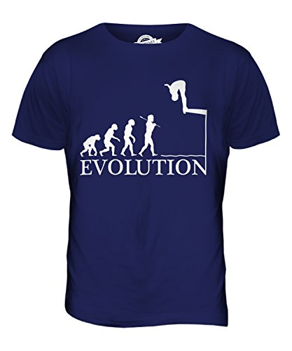 CandyMix Wasserspringen Evolution Des Menschen Herren T Shirt Navy Blau