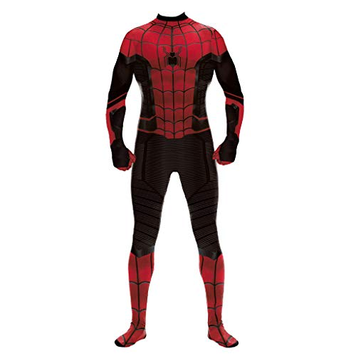 Kostüm Sexy Spiderman - QWEASZER Spider-Man: Far from Home, Avengers Sexy Spiderman Body Overalls Kostüm Cosplay Heldin Skinny Overall Ganzanzug,Black-XS