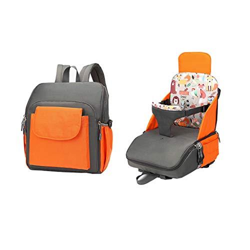 W-SHYP Multifunktions-Mumabeutel, Travel Booster-Sitz Faltbar - Ideal Für Reisen - Blau, Orange, Rot (Color : Orange)