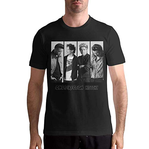 One Direction Mens Short Sleeve Shirt,Black,3XL