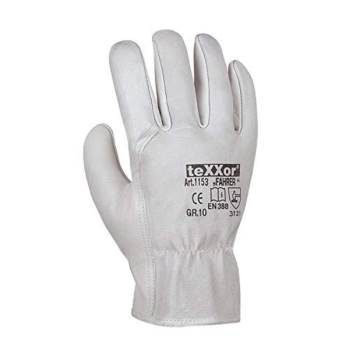 (12 Paar) teXXor Handschuhe TOP Rindnappaleder-Handschuhe Fahrer 12 x Natur 8