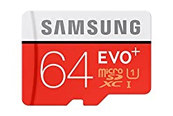 Samsung EVO Plus 64GB microSD Card, Red/Grey With Adapter