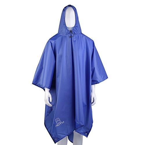 Gearmax® Azul Acampar al Aire Libre Senderismo Multiusos Capa de Lluvia, Cubierta Mochila, Manta de Picnic