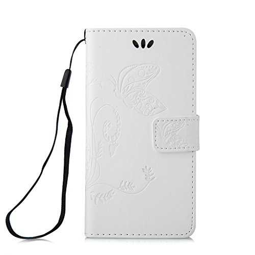 iphone 5s Coque, iphone SE Cover, MYTH Rétro Étui à rabat Magnétique Portefeuille Coque Flip Stand Protecteur Bookstyle Housse Pour iphone 5s /iphone SE /iphone 5 Blanc Blanc