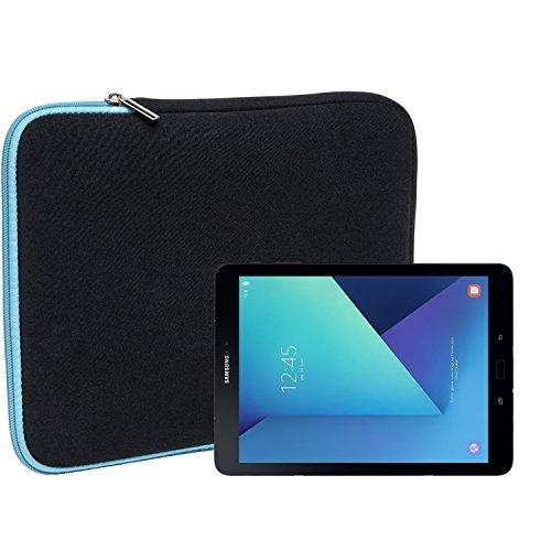 Slabo Tablet Tasche Schutzhülle für Samsung Galaxy Tab S3 Hülle Etui Case Phablet aus Neopren – TÜRKIS/Schwarz
