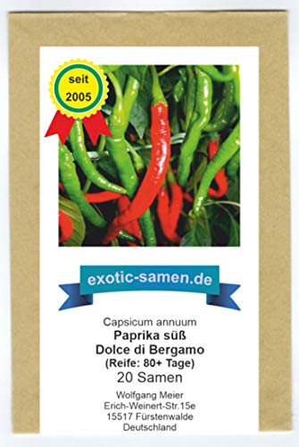 Peperoni - Paprika - Dolce di Bergamo - Sigaretta di Bergamo - 20 Samen