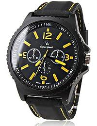 Relojes Hermosos, Reloj Pulsera Quartz V6 de Caja Negra para Hombres ( Color : Negro )