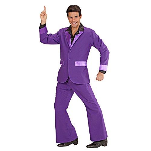 Widmann 7492V Erwachsenenkostüm Partyanzug Lila, (Männer Disco Outfit)
