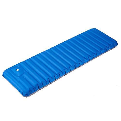 ZOUBIAG Tragbare Wellpappe Komfortable Aufblasbare Kissen (Color : Blue, Size : A) - Weiche Wärme-matratze-auflage